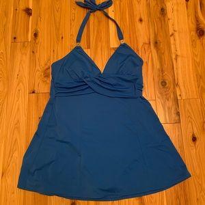 Jaclyn Smith halter swim dress sz 12 VGUC